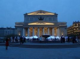 Das Bolshoi Theater (Main Stage) bei Nacht