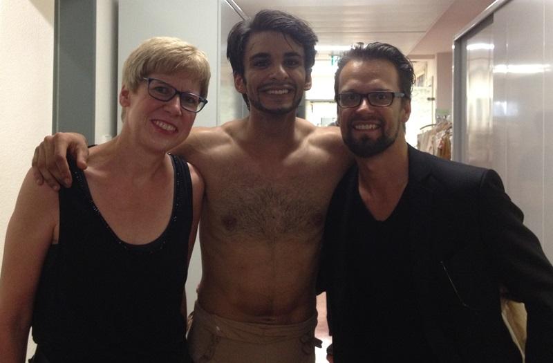 Elisabeth Kabatek mit dem neuen Petrucchio Constantine Allen und Filip Barankiewicz, Foto: privat