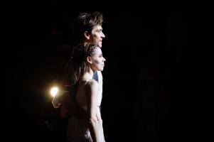 Elisa Badenes und Friedemann Vogel beim ersten Vorhang nach einer intensiven Vorstellung von John Crankos Meisterwerk